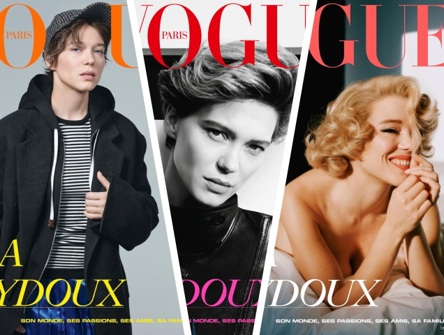 Léa Seydoux finally appears in Vogue Paris with a trio of unique covers