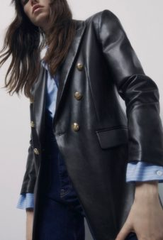 14 Black Leather Blazers to Help You Look Cool and Stay Warm