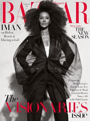 UK Harper's Bazaar February 2021 : Iman by Paola Kudacki