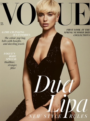 UK Vogue February 2021 : Dua Lipa by Emma Summerton