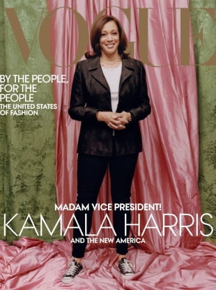 US Vogue February 2021 : Kamala Harris by Tyler Mitchell
