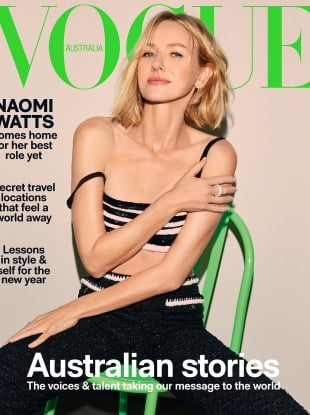 Vogue Australia January 2021 : Naomi Watts by Carin Backoff