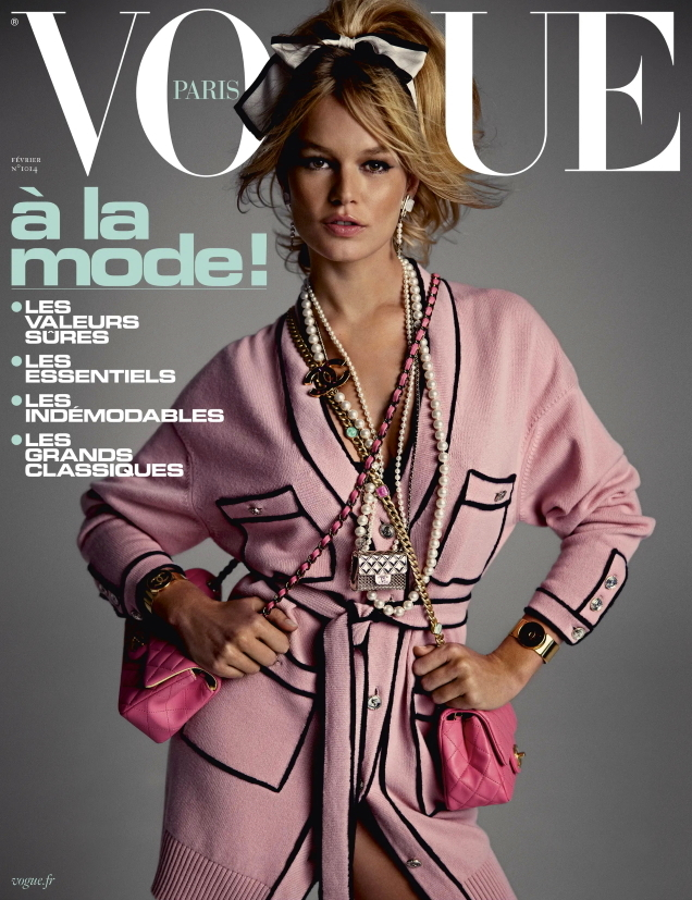 Vogue Paris February 2021 : Anna Ewers by Inez van Lamsweerde & Vinoodh Matadin
