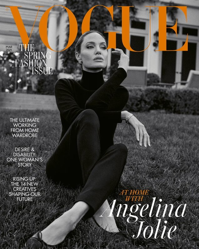 UK Vogue March 2021 : Angelina Jolie by Craig McDean