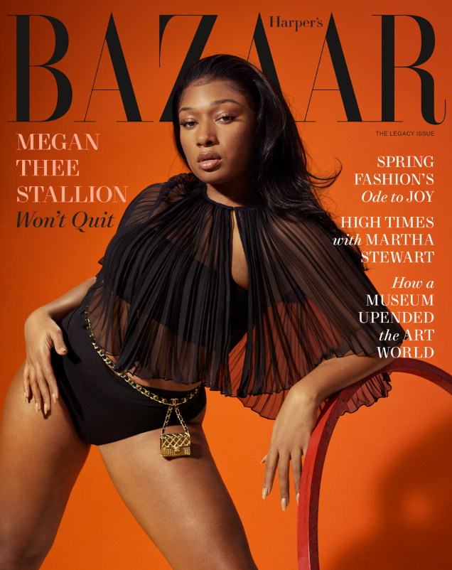 US Harper's Bazaar March 2021 : Megan Thee Stallion by Collier Schorr