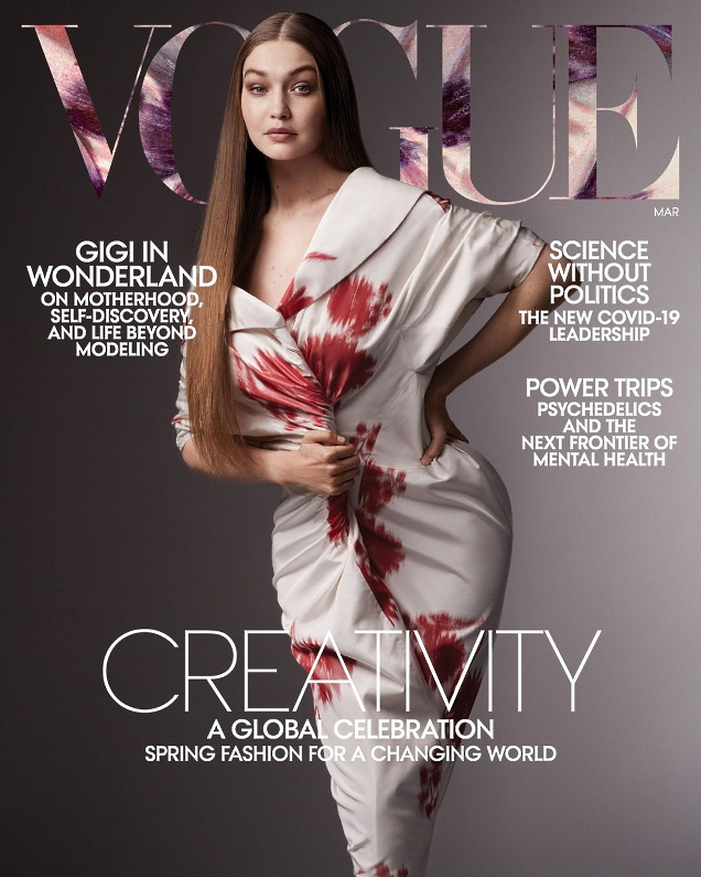 US Vogue March 2021 : Gigi Hadid by Ethan James Green
