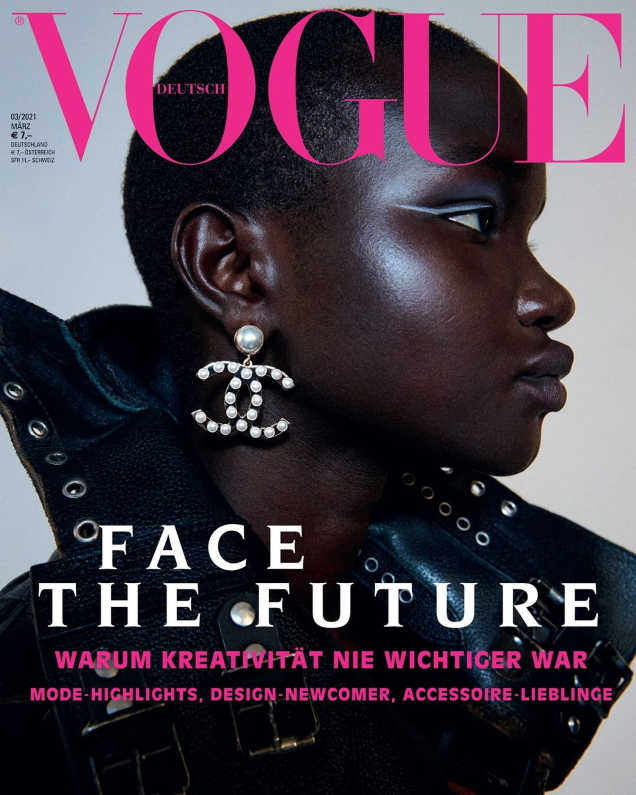 Vogue Germany March 2021 : Akon Changkou by Julia Noni