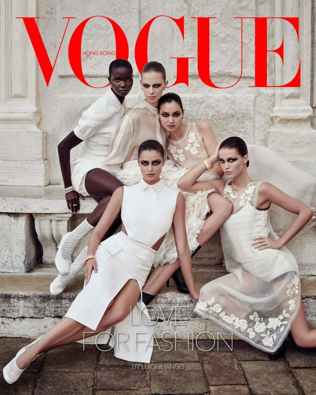 Vogue Hong Kong February 2021 : Akon, Estelle, Lexi, Luna & Taylor by Luigi & Iango
