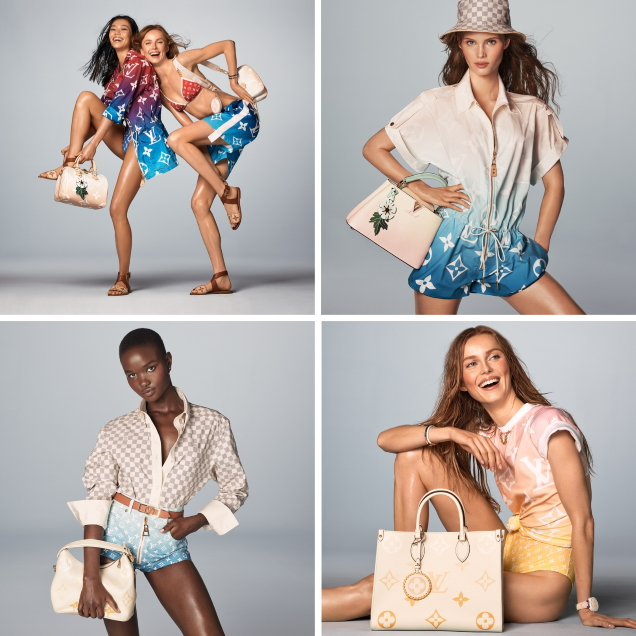 Louis Vuitton 'Summer by the Pool' 2021 : Rianne, Jade, Akon, Ashley & Ida by Steven Meisel