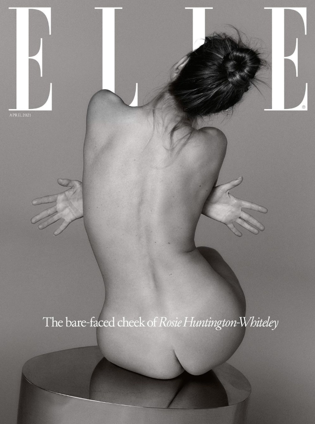 UK Elle April 2021 : Rosie Huntington-Whiteley by Quentin Jone
