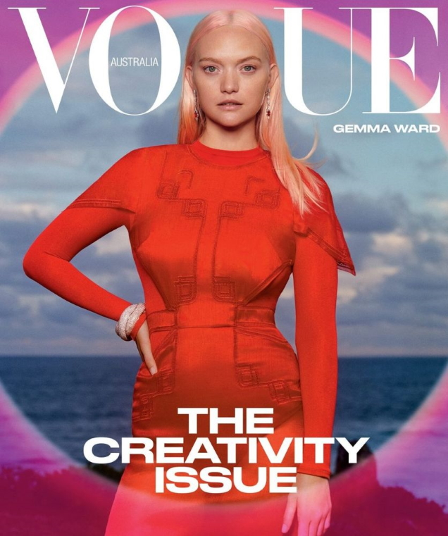Vogue Australia March 2021 : Gemma Ward by Derek Henderson