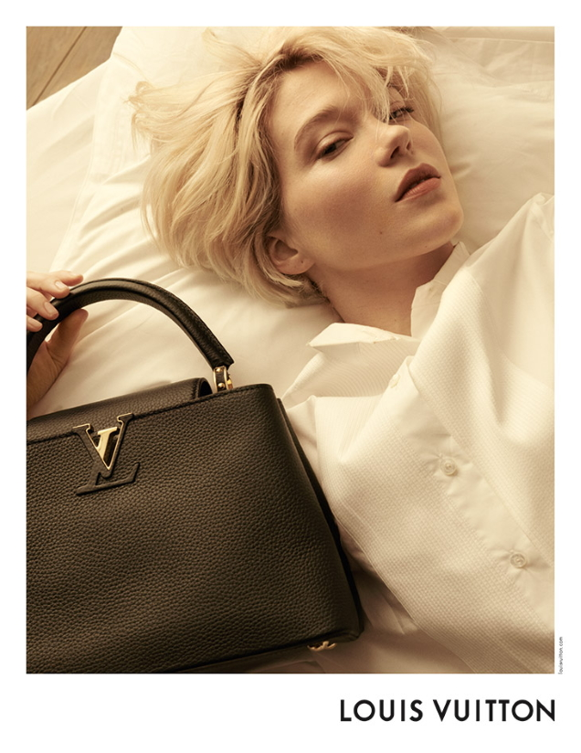Louis Vuitton 'Capucines' Handbags 2021 : Léa Seydoux by Steven Meisel