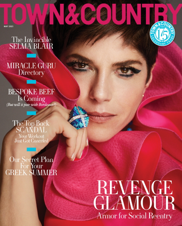 Town & Country May 2021 : Selma Blair by Alexi Lubomirski