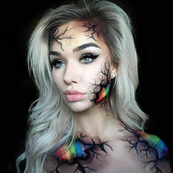 Unique Halloween Makeup Ideas.101 Mind Blowing Halloween Makeup Ideas To Try This Year Thefashionspot