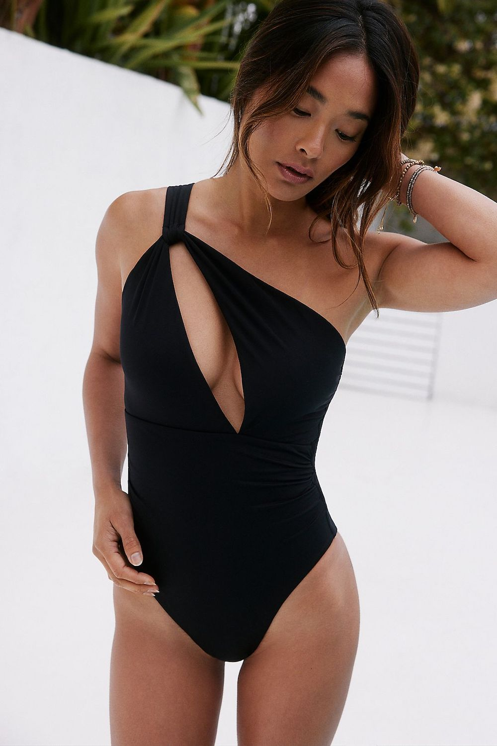 Seafolly Spliced One Shoulder One Piece Swimsuit
