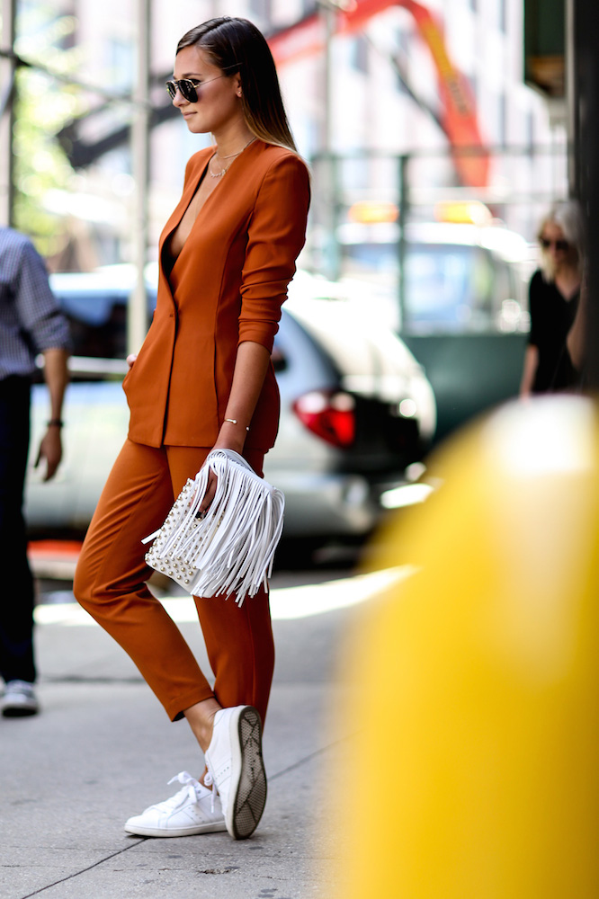 Wear the White Sneakers Trend