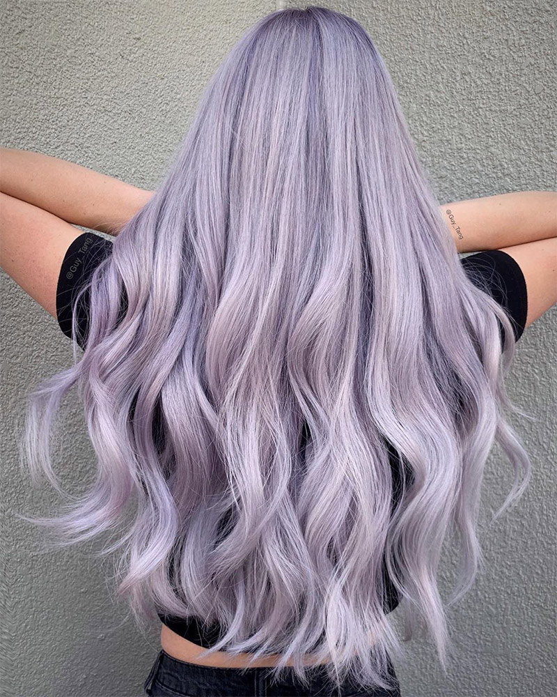 Lavender Hair Color Inspiration For Summer Thefashionspot