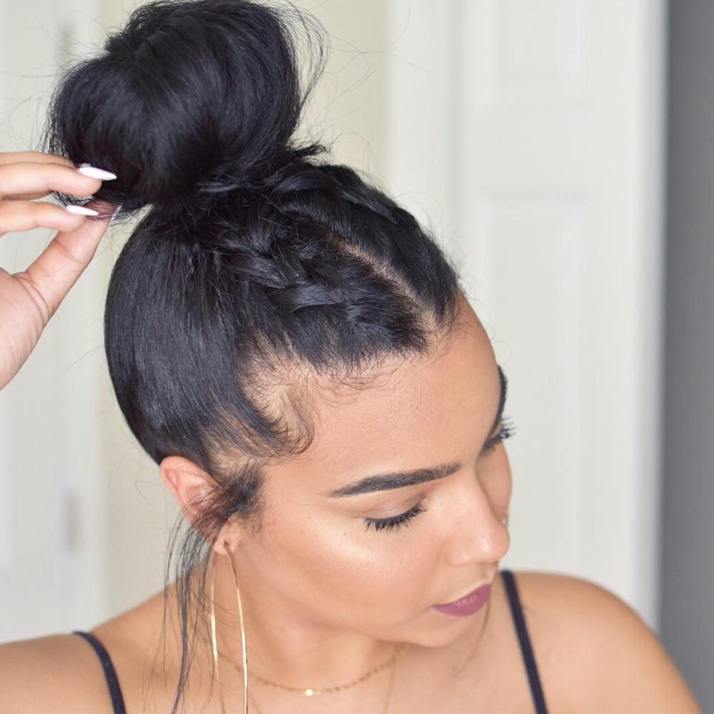9 Super Easy Updos for Beginners   theFashionSpot