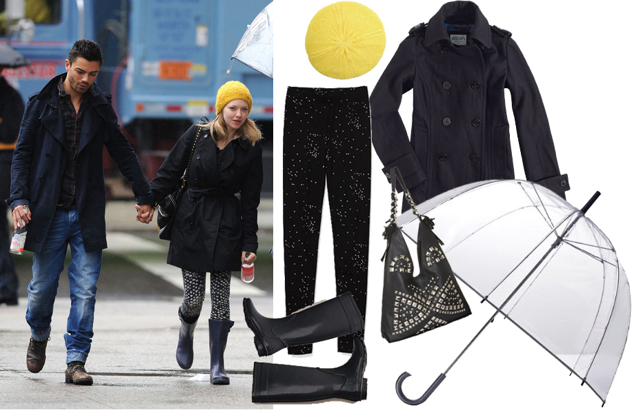 Amanda Seyfried Rainy Day Look