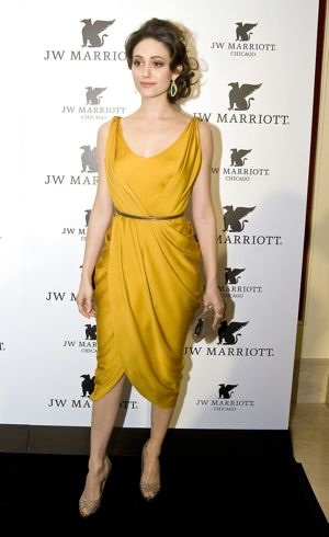 Emmy Rossum JW Marriott Hotels Resorts grand opening Chicago March 2011