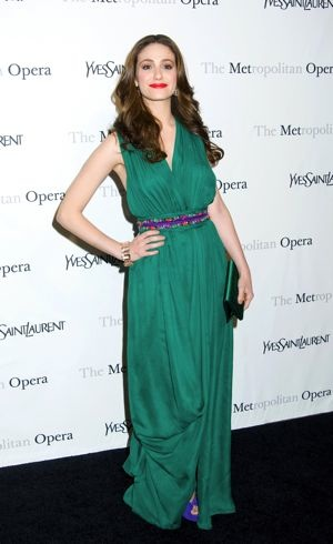 Emmy Rossum Metropolitan Opera gala premiere of Rossini Le Comte Ory New York City March 2011