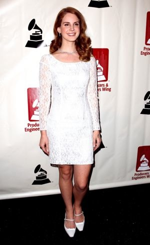 Lana Del Rey 54th Annual GRAMMY Awards Producers Engineers Wing Event Santa Monica Feb 2012