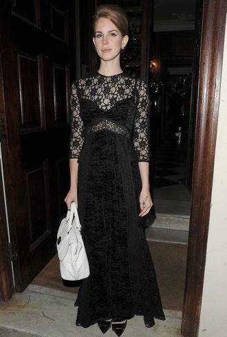 Lana Del Rey London Fashion Week Fall 2012 Mulberry Private Dinner London Feb 2012 cropped
