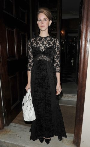 Lana Del Rey London Fashion Week Fall 2012 Mulberry Private Dinner London Feb 2012