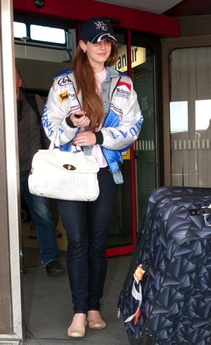 Lana Del Rey at Tegel Airport for the Echo 2012 music awards Berlin March 2012