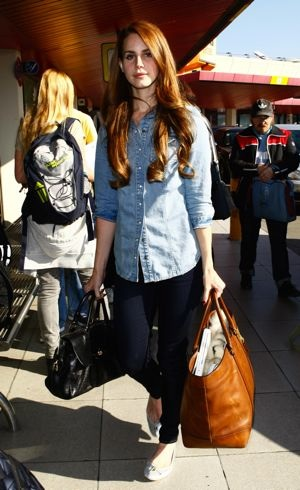 Lana Del Rey at Tegel airport to catch a flight to London Berlin March 2012