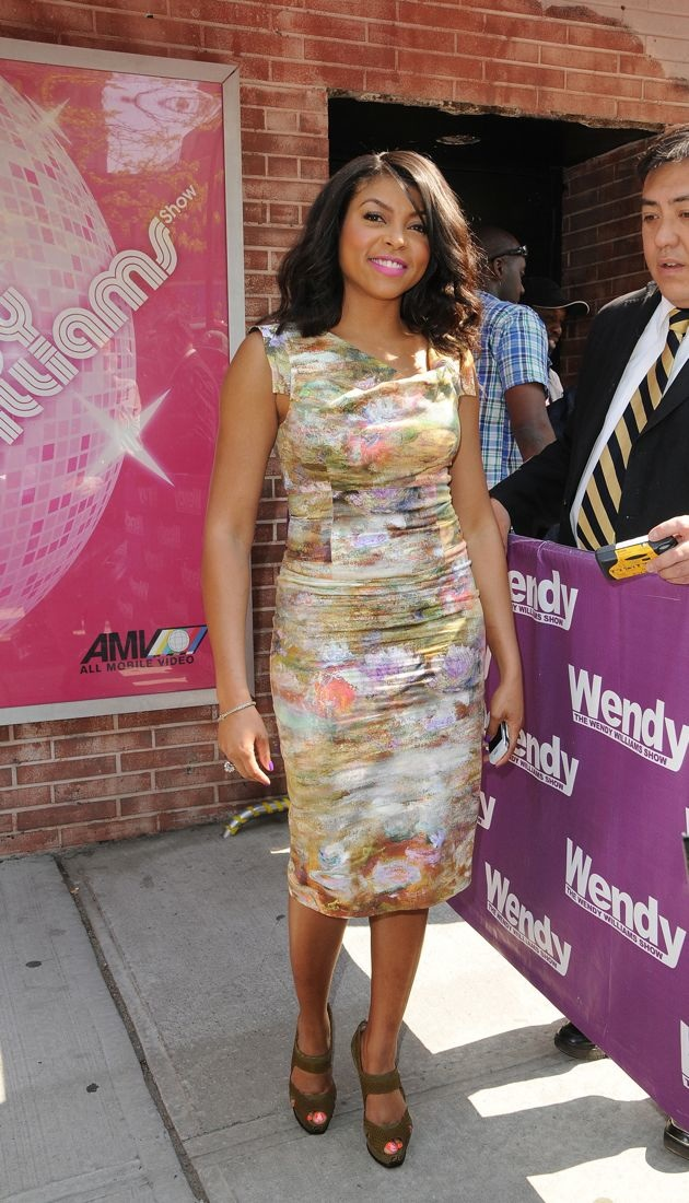 Taraji P Henson leaves the Wendy Williams show New York City