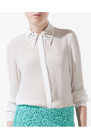 forum buys - Zara studded collar top