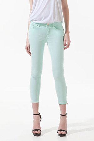 forum buys - Zara cropped mint pants