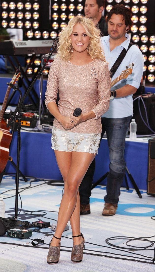 Carrie Underwood performs live at Rockefeller Plaza Toyota Concert Series New York City