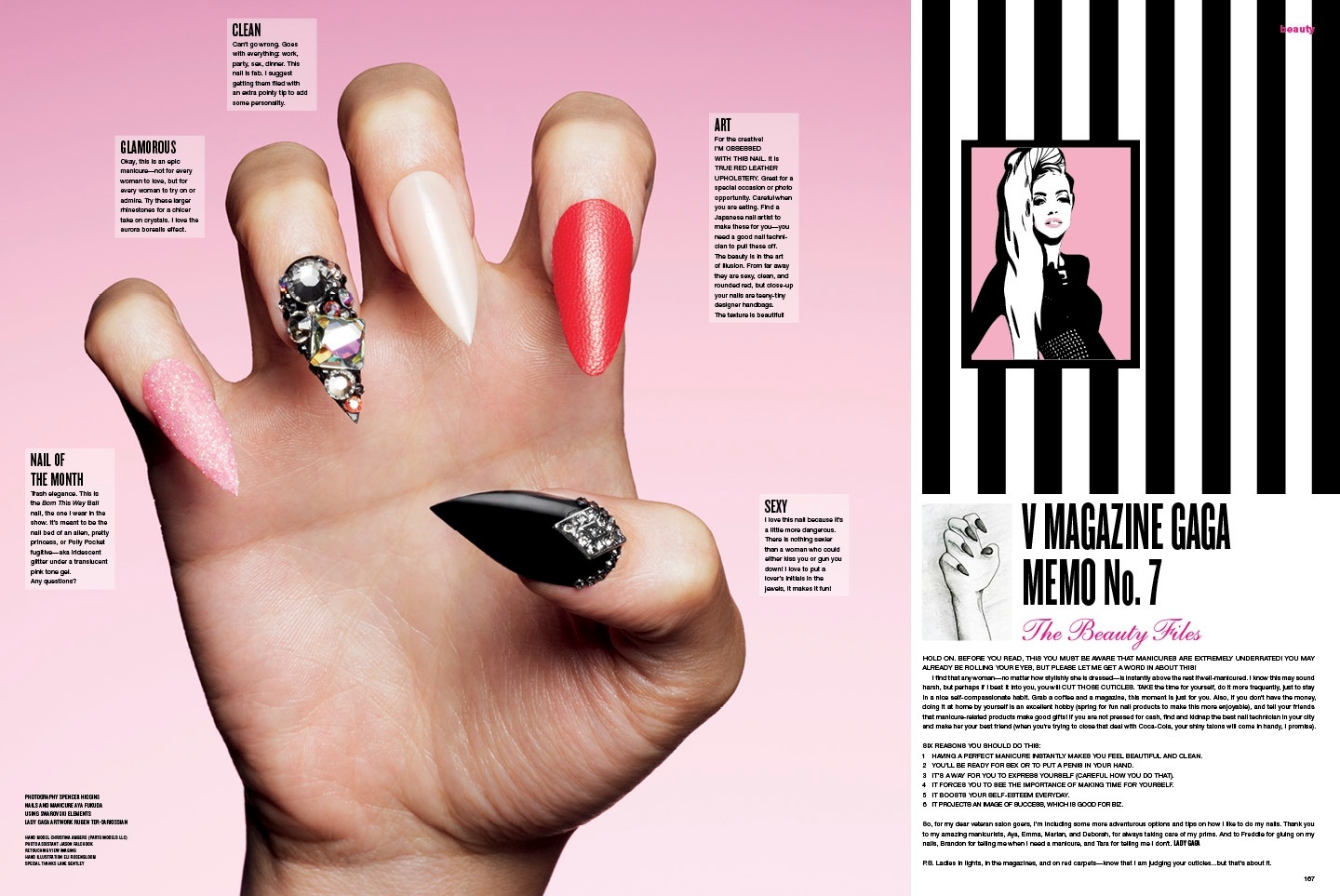 More Gaga! Monster Nail Tutorial for V Magazine - theFashionSpot