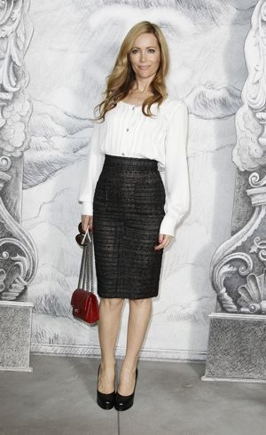 Leslie Mann Paris Fashion Week Fall/Winter 2013 Chanel July 2012