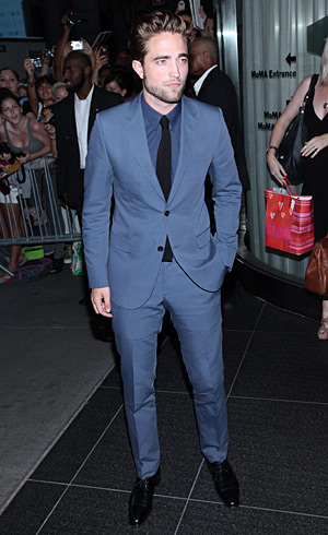 Robert Pattinson at Cosmopolis premiere in Gucci - NYC