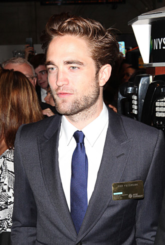Robert Pattinson at NYSE
