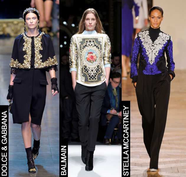 Go For Baroque This Fall With Rococo Prints And Gilded Embellishments Thefashionspot