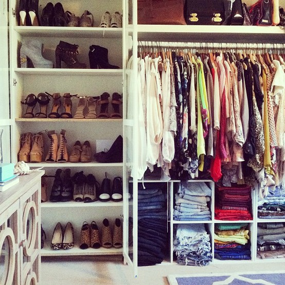 Give your closet a celebrity makeover thefashionspot - Room with no closet ...