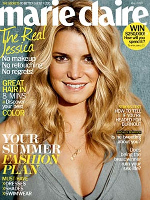 Jessica Simpson Marie Claire cover