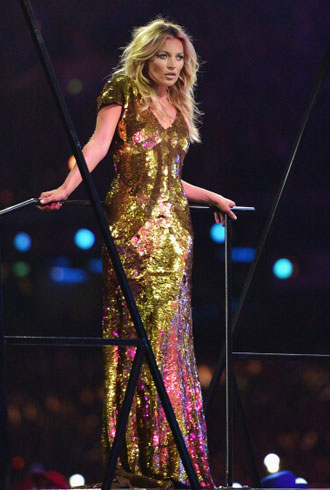 Kate Moss Olympics Closing Ceremony