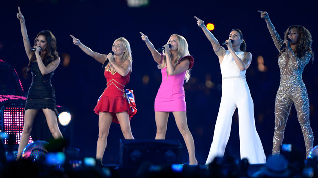 Spice Girls at the Olympics Closing Ceremony