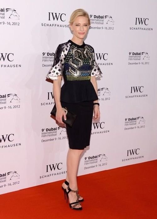 Cate Blanchett IWC Schaffhausen Filmmaker Award Gala dinner Dubai International Film Festival