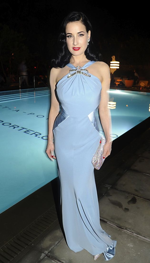 Dita Von Teese at the Art Basel during the Pret A Porter party Miami