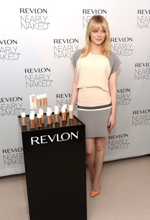 Emma Stone Revlon New Nearly Naked Makeup Launch New York City