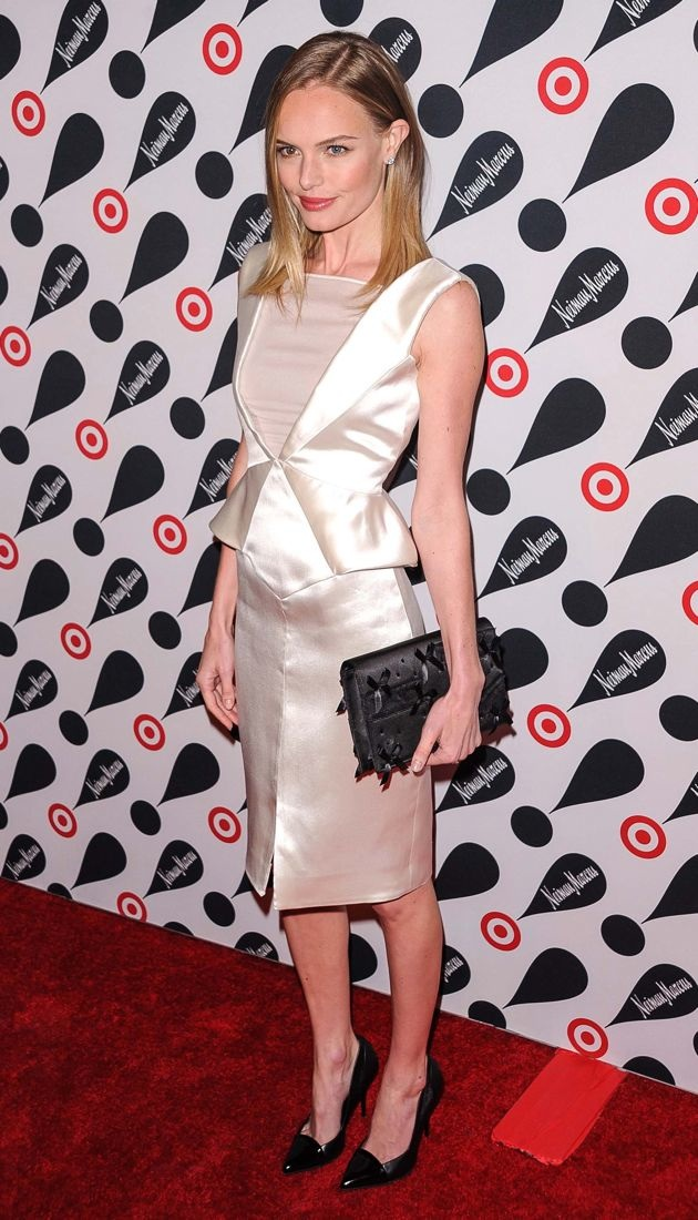 Look Of The Day Kate Bosworth S White Satin Emilio Pucci