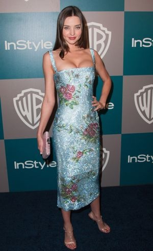 Miranda Kerr 13th Annual Warner Bros and InStyle Golden Globe Awards Afterparty Los Angeles Jan 2012