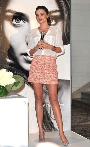 Miranda Kerr promotes Kora Organics at David Jones Sydney Feb 2012