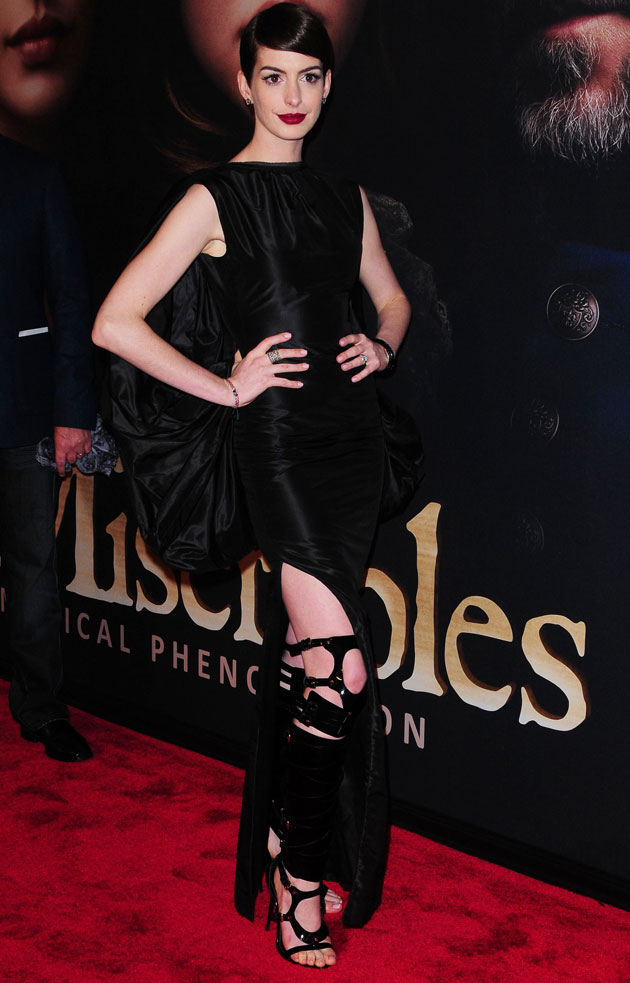Anne Hathaway in Tom Ford bondage look